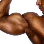 Close-up of mans arm showing bicep